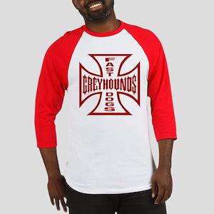 Red Fast Dogs Emblem Baseball Jersey
