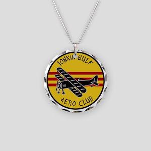 Tonkin Aero Club Necklace Circle Charm