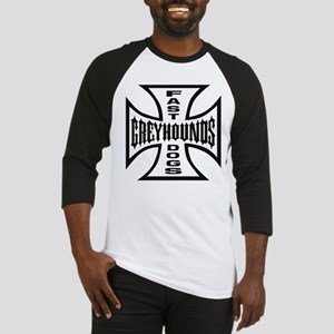 Black Fast Dogs Emblem Baseball Jersey