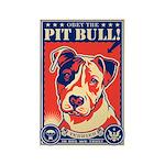 Obey the PIT BULL! USA Propaganda Magnet
