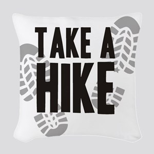 hike Woven Throw Pillow