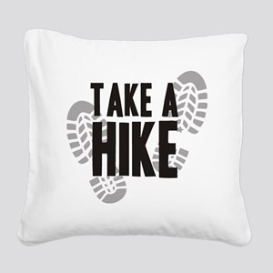 hike Square Canvas Pillow