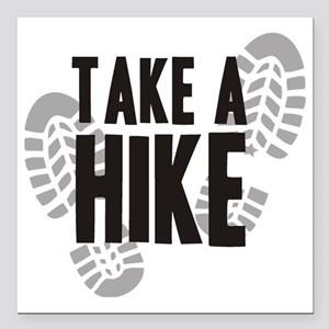 "hike Square Car Magnet 3"" x 3"""