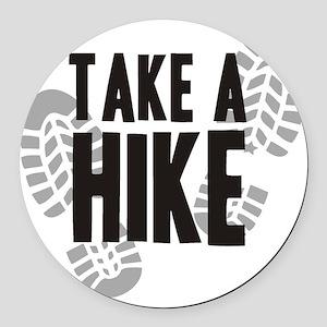 hike Round Car Magnet