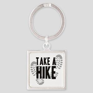 hike Square Keychain