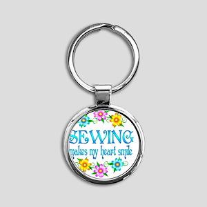 SEW Round Keychain