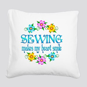 SEW Square Canvas Pillow