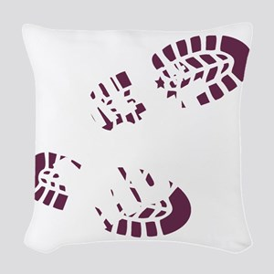 girlmove2 Woven Throw Pillow