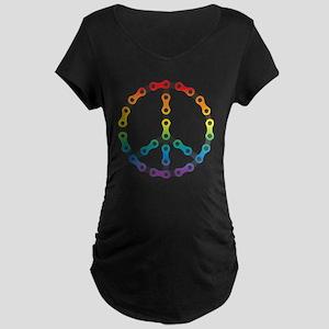 peace chain vivid Maternity Dark T-Shirt