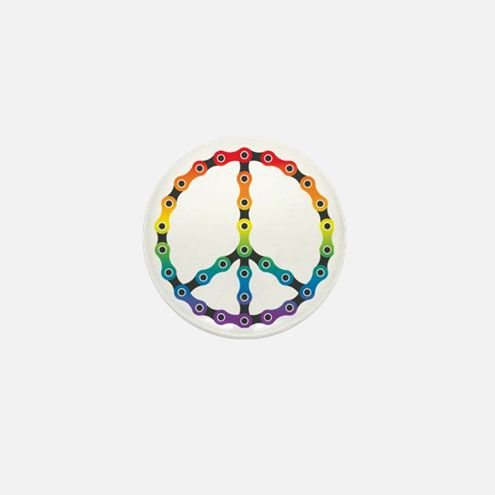peace chain vivid Mini Button