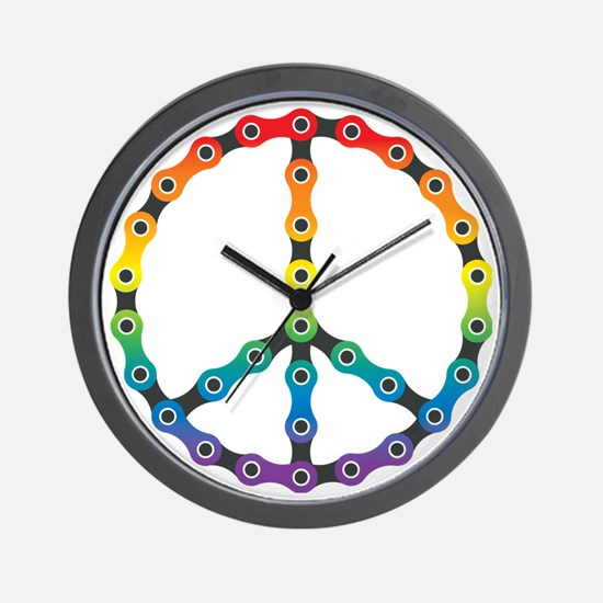 peace chain vivid Wall Clock