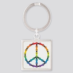 peace chain vivid Square Keychain