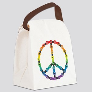 peace chain vivid Canvas Lunch Bag