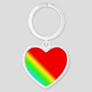 Rainbow Red-AW Heart Keychain