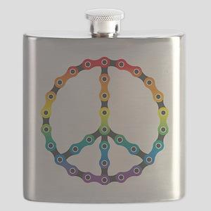 peace chain vivid Flask