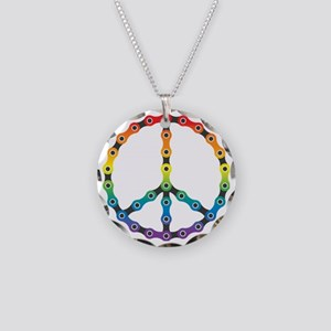 peace chain vivid Necklace Circle Charm
