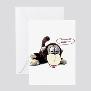 Funny monkey greeting cards cafepress aging monkey greeting cards m4hsunfo