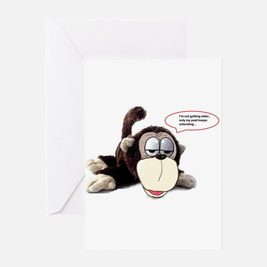 Aging monkey Greeting Cards