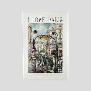Paris 6 Rectangle Magnet