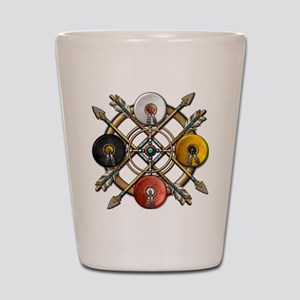 Medicine Wheel Mandala Shot Glass