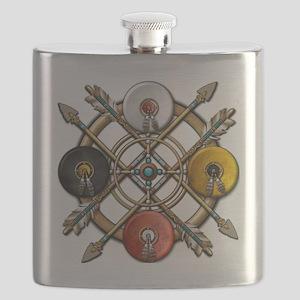 Medicine Wheel Mandala Flask