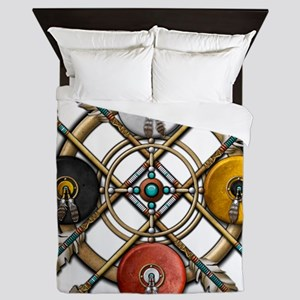 Medicine Wheel Mandala Queen Duvet