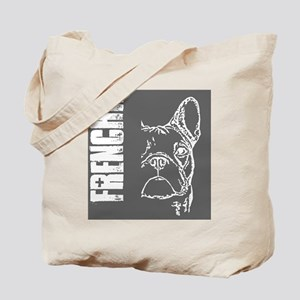 BHNW_frenchieGREY_flip_flops Tote Bag