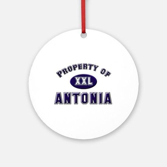 Property of antonia Ornament (Round)