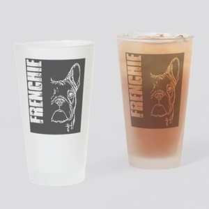 BHNW_frenchieGREY_flip_flops Drinking Glass
