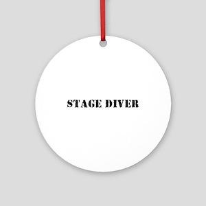 Stage Diver Ornament (Round)