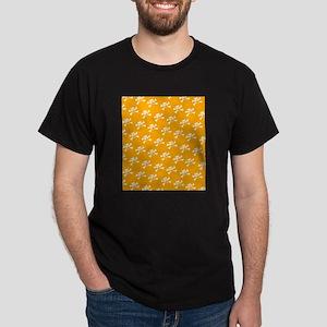 BHNW_BullieSkullsORANGE_flip_flops Dark T-Shirt