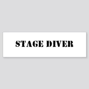 Stage Diver Bumper Sticker