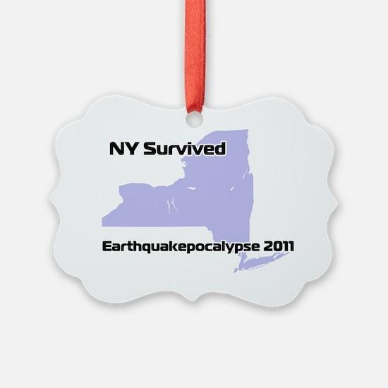 earthQuakeNYTransparent Ornament