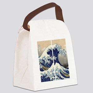 great_wave_flip_flops Canvas Lunch Bag