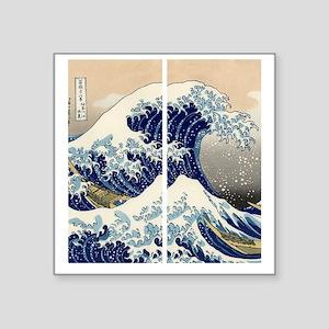 "great_wave_flip_flops Square Sticker 3"" x 3"""