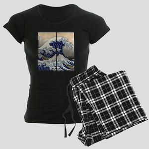 great_wave_flip_flops Women's Dark Pajamas