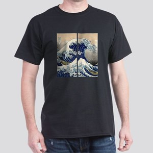 great_wave_flip_flops Dark T-Shirt