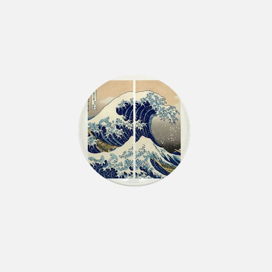 great_wave_flip_flops Mini Button