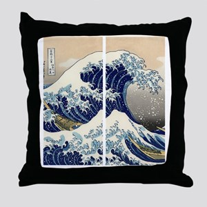 great_wave_flip_flops Throw Pillow