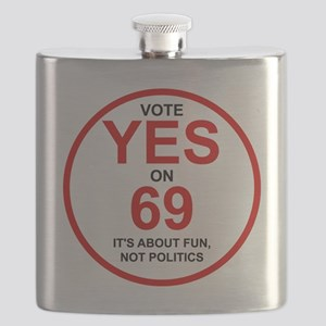 Yes on 69 Flask
