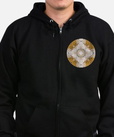 Kscope_knittingTweed_Cir_L Zip Hoodie (dark)