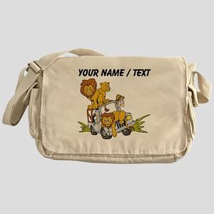 Custom African Lion Safari Messenger Bag