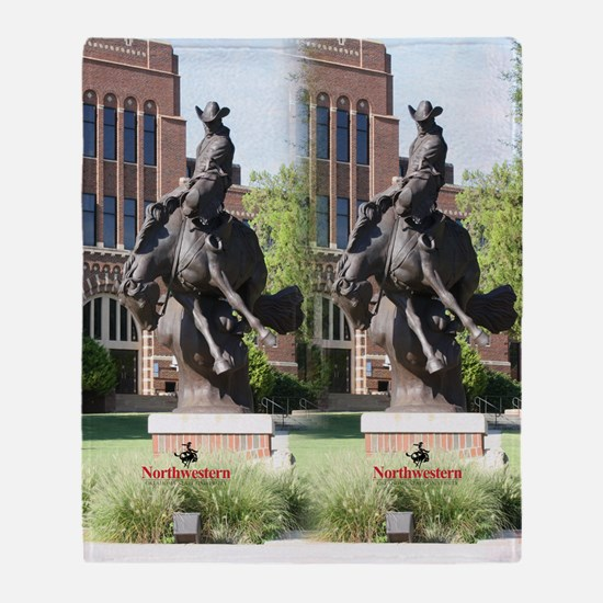 new horse logo -- statue Throw Blanket