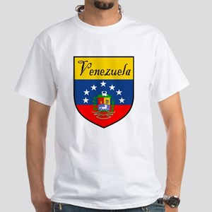 Venezuela Flag Crest Shield White T-Shirt
