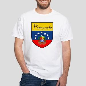 Venezuela Flag Crest Shield White T-Shirt