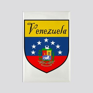 Venezuela Flag Crest Shield Rectangle Magnet