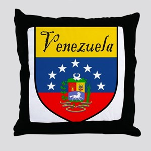 Venezuela Flag Crest Shield Throw Pillow