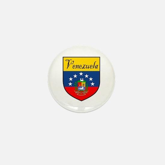 Venezuela Flag Crest Shield Mini Button (10 pack)