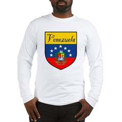 Venezuela Flag Crest Shield Long Sleeve T-Shirt