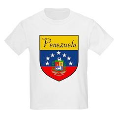 Venezuela Flag Crest Shield Kids T-Shirt